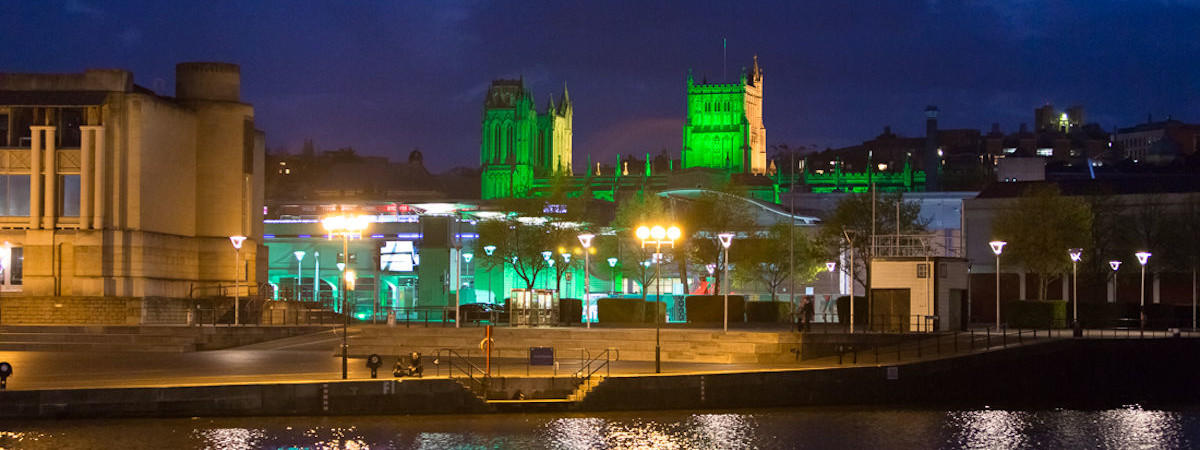 Bristol Cathedral during Green Capital 2015. Credit Bristol Cathedral.