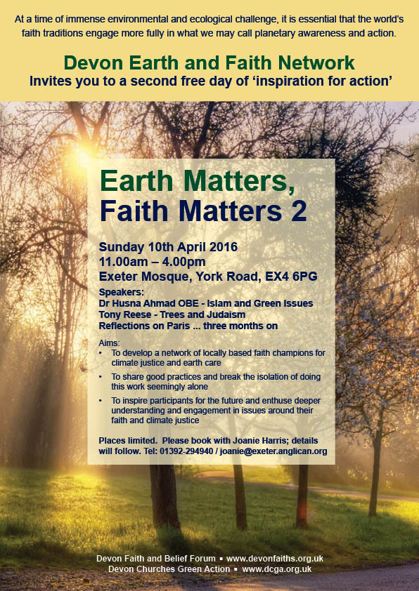 Earth Matters, Faith Matters 2016