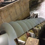 Hydro power - Archimedes screw at Buckfast Abbey