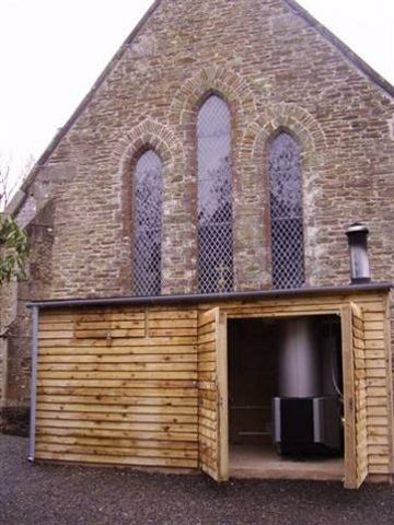 Church biomass boiler