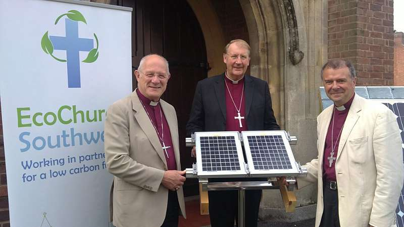 Bishops launching the solar PV scheme
